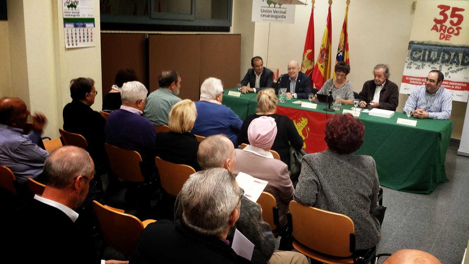 Los movimientos vecinales han tenido un papel fundamental en la transformación de la ciudad de Zaragoza